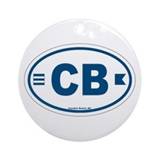 Carolina Beach Ornament (Round)