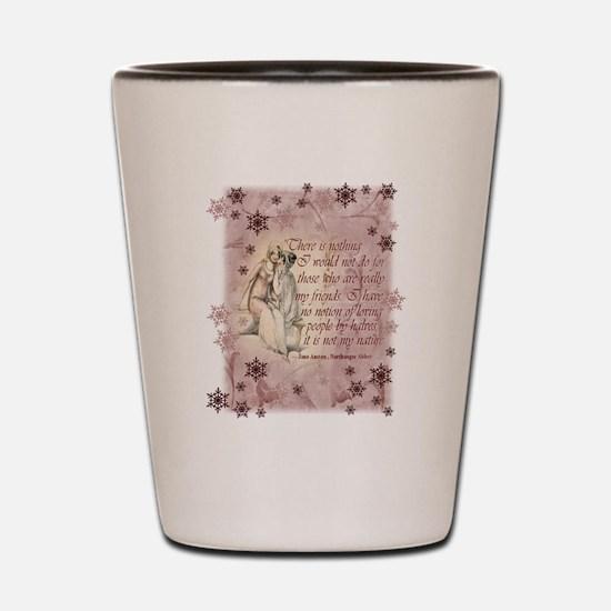Jane Austen Quote Shot Glass
