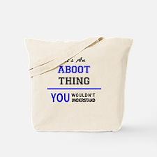 Unique Aboot Tote Bag