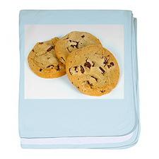 chocolate chip cookies photo baby blanket