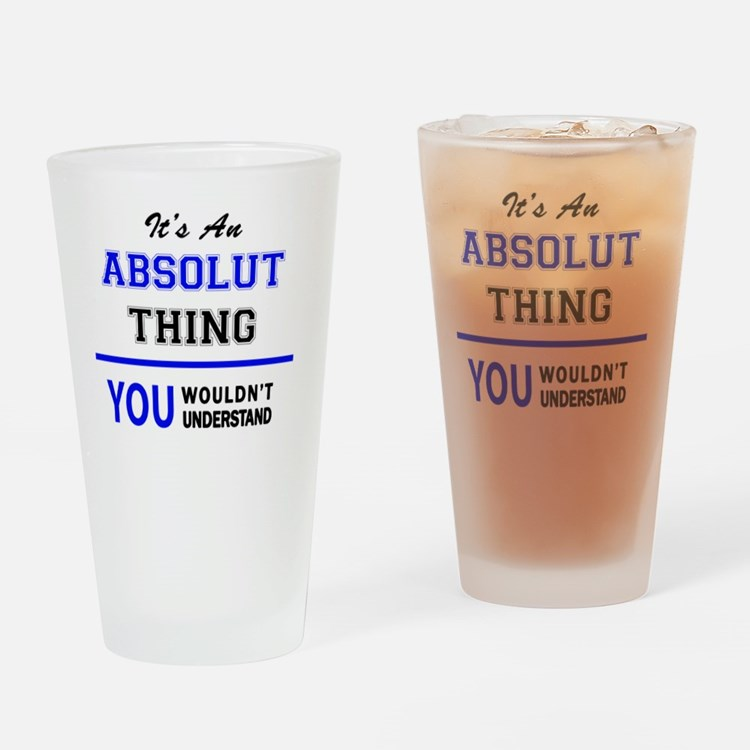 Cute Absolut Drinking Glass
