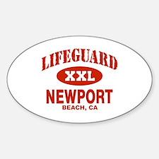 Lifeguard Newport Beach Oval Decal