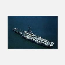 USS Oriskany Ship's Image Rectangle Magnet
