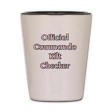 Official Commando Kilt Checker Shot Glass