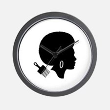 Cool Afro Wall Clock