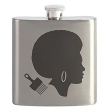 Cute Afro Flask