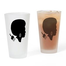 Funny Afro Drinking Glass