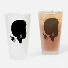 Cute Afro Drinking Glass