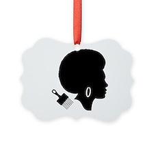 vintage black afro american woman Ornament