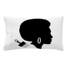 vintage black afro american woman Pillow Case