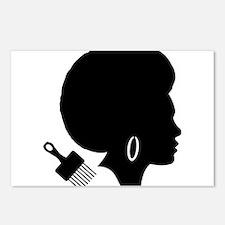 vintage black afro americ Postcards (Package of 8)