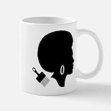vintage black afro american woman Mugs