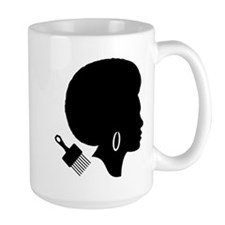vintage black afro american woman Mugs