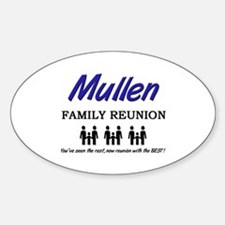 Mullen Family Reunion Oval Decal