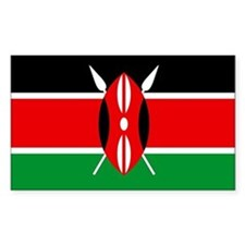 """Kenya Flag"" Rectangle Decal"
