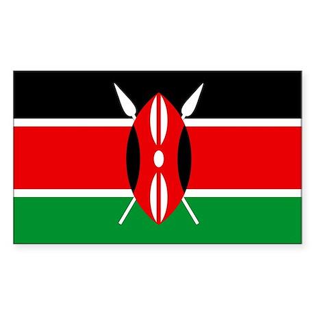 """""""Kenya Flag"""" Rectangle Sticker"""