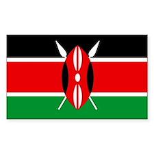 """Kenya Flag"" Rectangle Stickers"