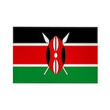 """""""Kenya Flag"""" Rectangle Magnet"""