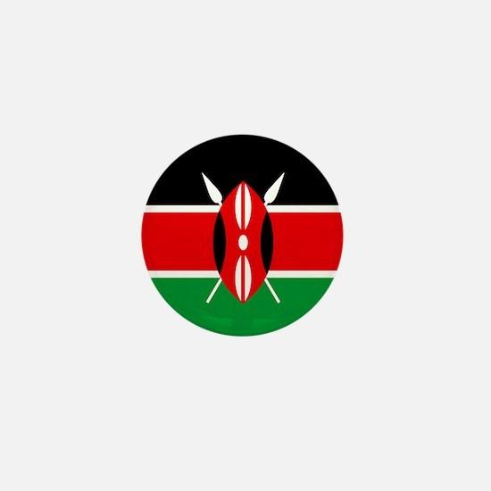 """Kenya Flag"" Mini Button"