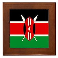 """""""Kenya Flag"""" Framed Tile"""