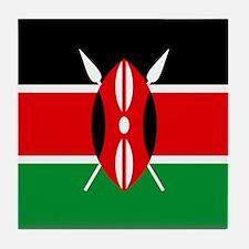 """Kenya Flag"" Tile Coaster"