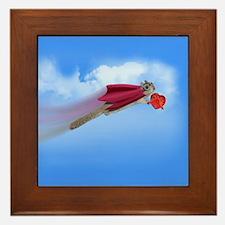 Valentine's Day Flying Squirrel Framed Tile