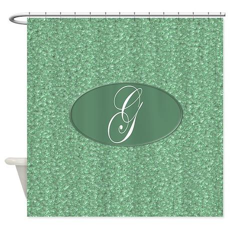 Monogrammed G Shower Curtain by MonogrammedShowerCurtains