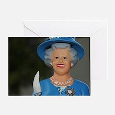Funny Queen elizabeth Greeting Card