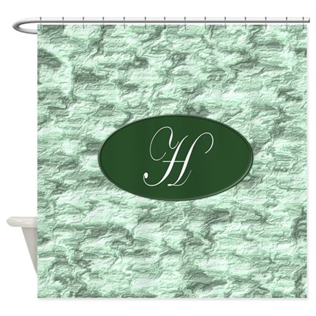 Monogrammed H Shower Curtain by MonogrammedShowerCurtains
