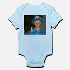 queen elizabeth doll blue Body Suit