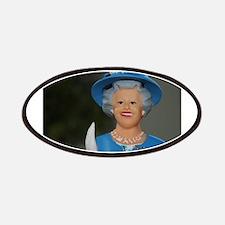 queen elizabeth doll blue Patches