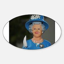 queen elizabeth doll blue Decal