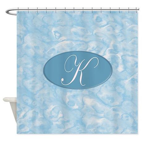 Monogrammed K Shower Curtain by MonogrammedShowerCurtains