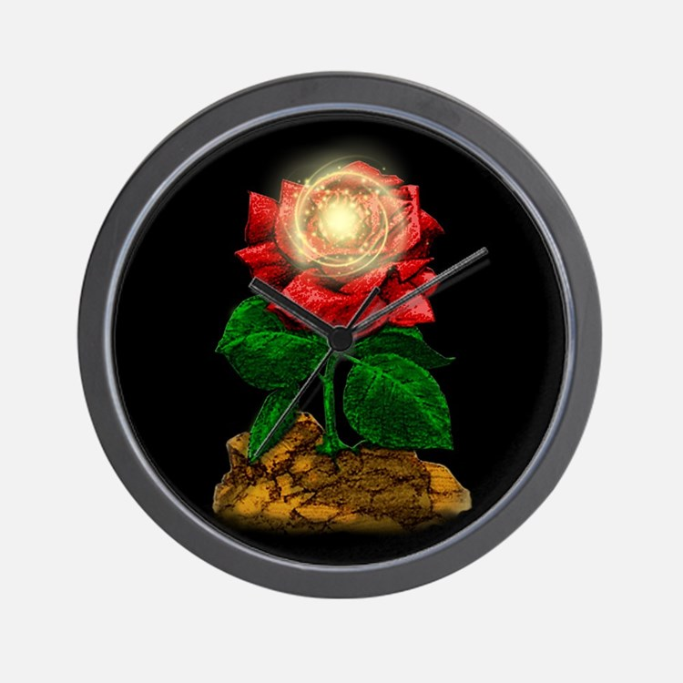 Rose & Universe Wall Clock