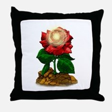 Rose & Universe Throw Pillow