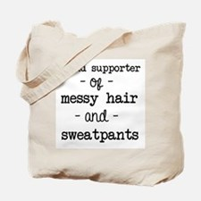 Messy Hair & Sweats Tote Bag