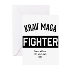 Krav Maga Fighter Greeting Cards