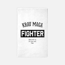 Krav Maga Fighter Area Rug