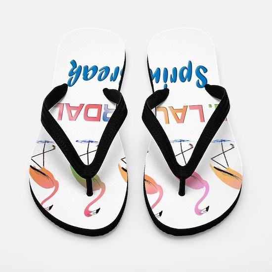 Tropical Flamingos FORT LAUDERDALE Spri Flip Flops