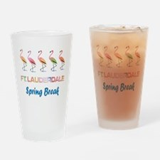 Tropical Flamingos FORT LAUDERDALE Drinking Glass
