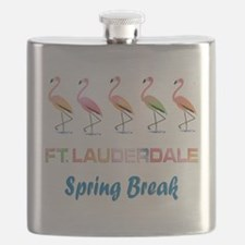 Tropical Flamingos FORT LAUDERDALE Spring Br Flask