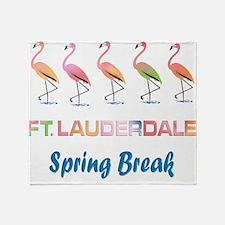 Tropical Flamingos FORT LAUDERDALE S Throw Blanket