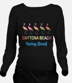 Tropical Flamingos D Long Sleeve Maternity T-Shirt