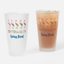 Tropical Flamingos DAYTONA BEACH Sp Drinking Glass