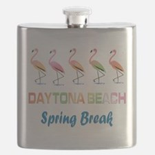 Tropical Flamingos DAYTONA BEACH Spring Brea Flask
