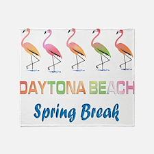 Tropical Flamingos DAYTONA BEACH Spr Throw Blanket