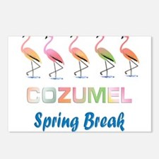 Tropical Flamingos COZUME Postcards (Package of 8)