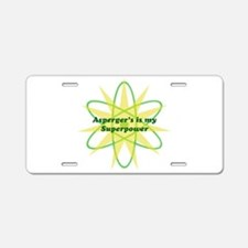 Aspie Superpower Aluminum License Plate