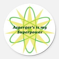 Aspie Superpower Round Car Magnet