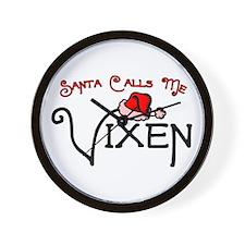 """""""Santa Calls Me Vixen"""" Wall Clock"""